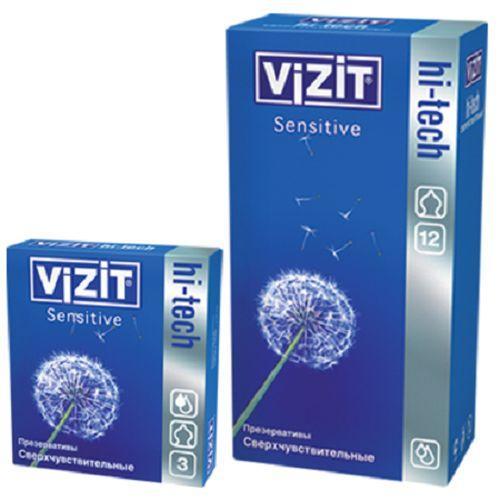 все цены на Презервативы 3 Hitech Sensitive (Vizit, Visit презервативы) онлайн