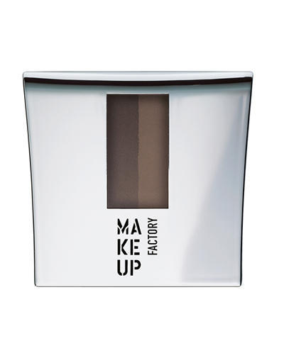 Тенипудра для бровей с трафаретом Eye Brow Powder 1 интенсивный коричневый, 7.5 г (Make Up Factory, Make up factory) ladsoul 2018 women multifunction makeup organizer bag cosmetic bags large travel storage make up wash lm2136 g