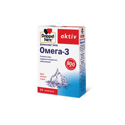 Омега 3 30 капсул (Doppelherz, Актив) комплекс жирных кислот и витамина е 60 капсул solgar жиры и жирные кислоты