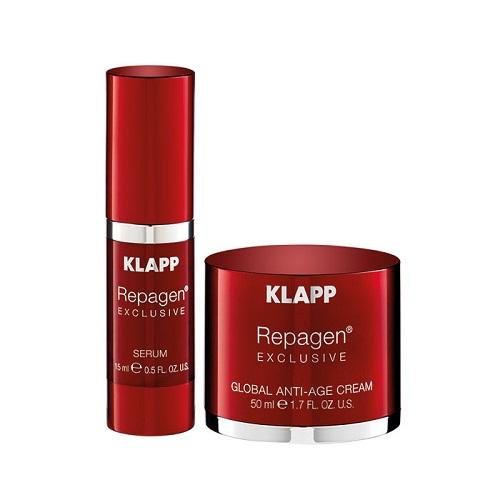 Klapp Набор для лица  Репаген Эксклюзив 15 мл + 50 (Klapp, Repagen® exclusive)