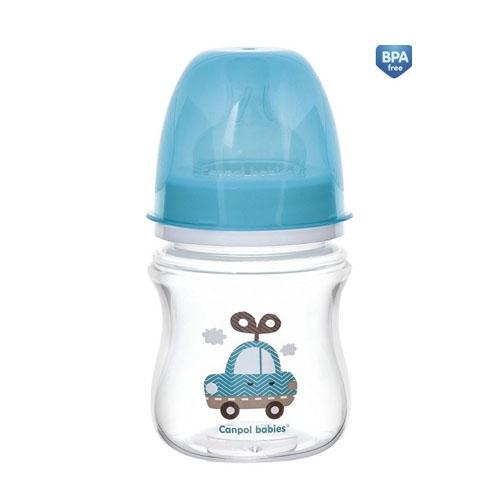 Бутылочка PP EasyStart с широким горлышком антиколиковая, 120 мл, 0 Toys (Canpol, Бутылочки)