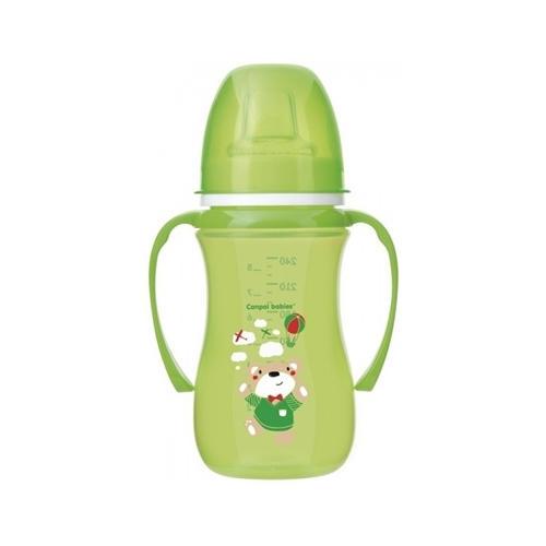 Поильникнепроливайка с мягким носиком, 240 мл, 6 Sweet fun, цвет зеленый (Canpol, Посуда)