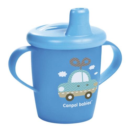 поильники Canpol Чашка-непроливайка, 250 мл. Toys 9+, цвет: голубой (Canpol, Поильники)