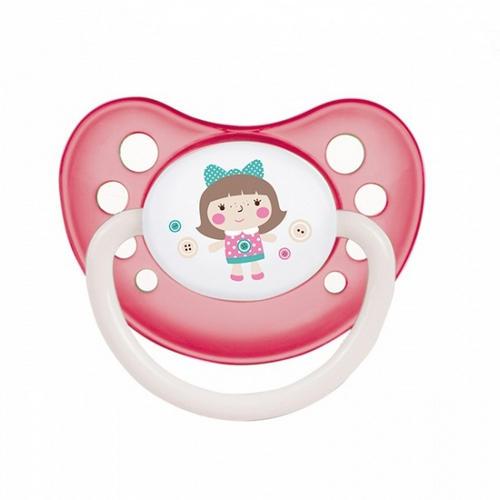 Пустышка анатомическая силиконовая, 618, розовая 1 шт. (Canpol, Toys)