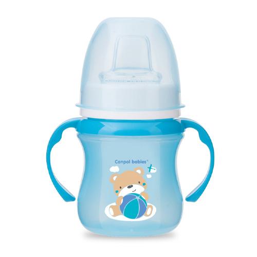 поильники Canpol Чашка-непроливайка sweet fun 180 мл, цвет: голубой (Canpol, Поильники)
