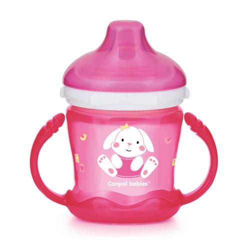 поильники Canpol Чашка-непроливайка sweet fun 180 мл, цвет: розовый (Canpol, Поильники)