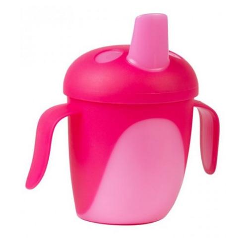 поильники Canpol Чашка-непроливайка Tropical Bird 240 мл. 9+ розовый (Canpol, Поильники)
