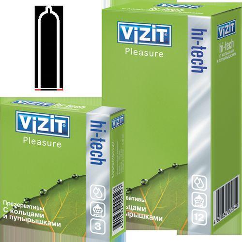 Презервативы №12 Hi-tech Pleasure (Visit презервативы)