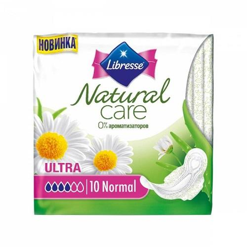 Прокладки Natural Care Ultra Normal 10 штук (Libresse, Natural Care) libresse natural care ultra normal прокладки гигиенические 10 шт