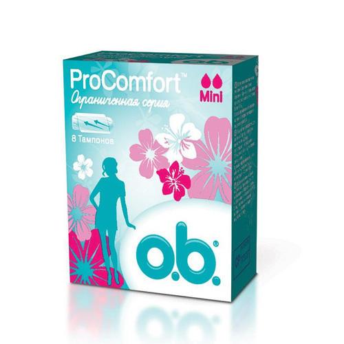 O.B. Тампоны мини 8 штук (O.B., ProComfort)