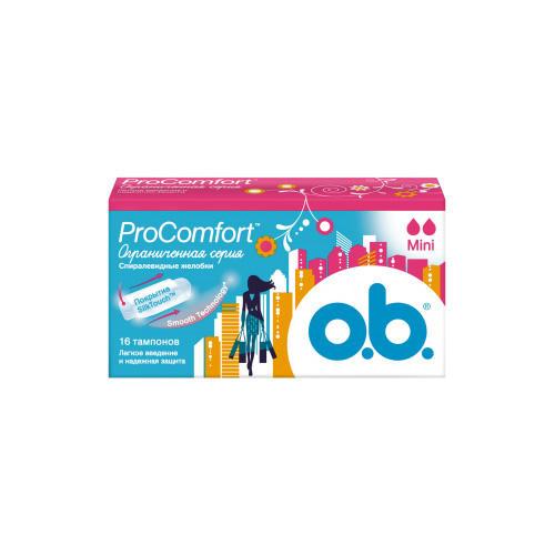 Купить O.B. Тампоны мини 16 штук (O.B., ProComfort), Германия