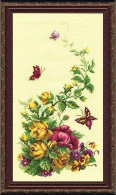215 Триптих. Полевые цветы (розы) чм (Чарiвна Мить, Чарiвна Мить) бю508 пион чм чарiвна мить чарiвна мить