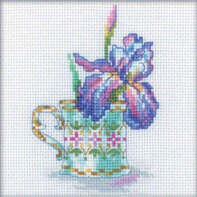 EH307 Чашка и ирис (РТО, РТО) m612 моя чашка чая рто рто