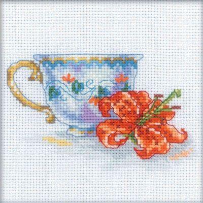 EH308 Чашка и лилия (РТО, РТО) m612 моя чашка чая рто рто