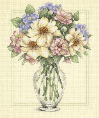 35228DMS Цветы в высокой вазе (Dimensions, Dimensions) 20085dms цветы на синем dimensions dimensions