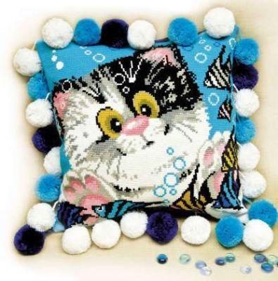 1100 Подушка Котёнок (Сотвори Сама, Сотвори Сама) набор для вышивания сотвори сама котёнок гав 462