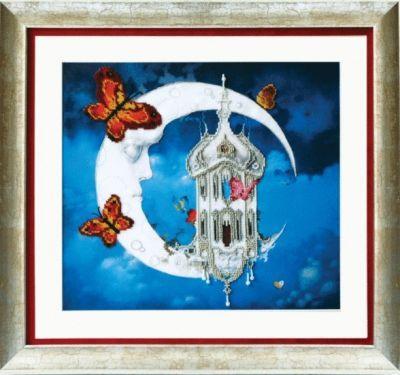 Б597 Лунный замок чм (Чарiвна Мить, Чарiвна Мить) канва с рисунком для вышивания бисером hobby