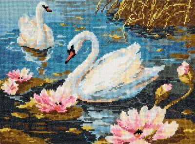 6401 Лебединая пара (Чудесная игла, Чудесная игла) смурфики волшебная игла портного серии 1 22