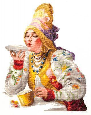 6601 Боярышня за чаем (Чудесная игла, Чудесная игла) 6601 ebv