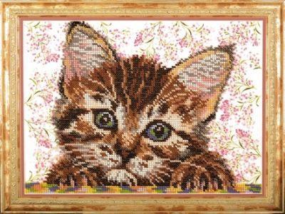 B254 Ласковый мой (Кроше, Кроше) канва с рисунком для вышивания бисером hobby