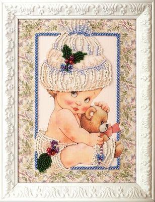 B506 Мой мишка (Кроше, Кроше) канва с рисунком для вышивания бисером hobby