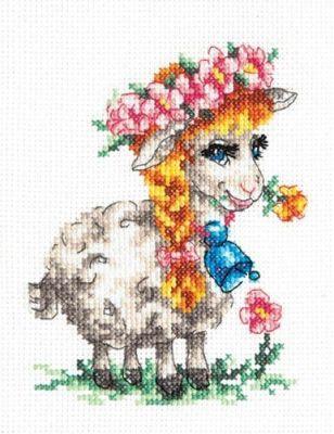 1881 Красавица овечка (Чудесная игла, Чудесная игла) набор для вышивания крестом мелодия любви чудесная игла 40 63