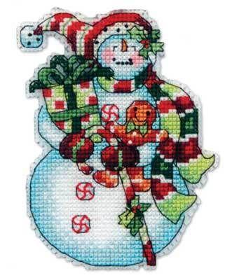 8915DMS Снеговик со сладостями (украшение) (Dimensions, Dimensions)