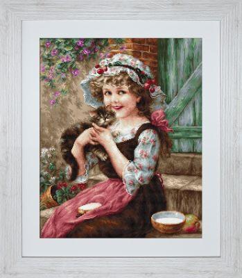 B0538 Маленький котенок (LucaS) (LucaS, LucaS) набор для вышивания крестом rto котенок с подарком 10 х 10 см
