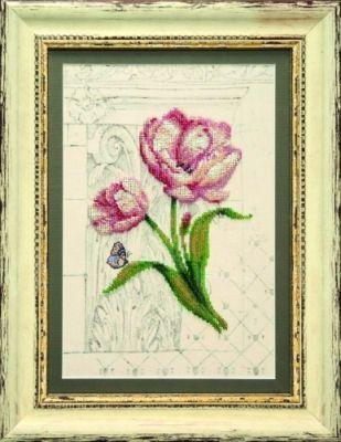 Б709 Весеннее вдохновение чм (Чарiвна Мить, Чарiвна Мить) канва с рисунком для вышивания бисером hobby