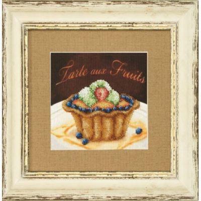 Б717 Фруктовое пирожное чм (Чарiвна Мить, Чарiвна Мить) канва с рисунком для вышивания бисером hobby