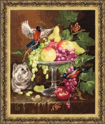 ГН013 Ваза с фруктами. Староголландский натюрморт (Золотое Руно, Золотое Руно) пуховик женский baon цвет синий b007569