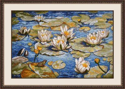793 Большие лилии (Овен) (Овен, Овен) набор для вышивания крестом зайчата овен 694