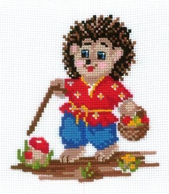 Е04 Ёжик (Сделай своими руками, Сделай своими руками) набор для вышивания крестом сделай своими руками времена года лето 10 х 15 см