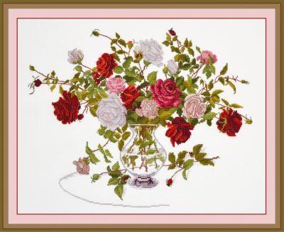 812 Букет роз (Овен) (Овен, Овен) набор для вышивания крестом зайчата овен 694