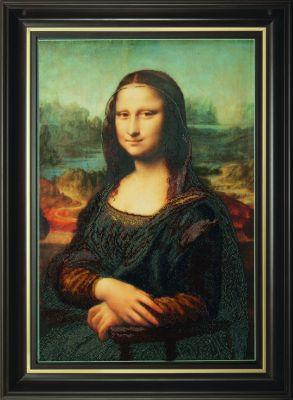 Б730 Мона Лиза чм (Чарiвна Мить, Чарiвна Мить) канва с рисунком для вышивания бисером hobby