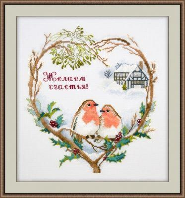853 Желаем счастья (Овен) (Овен, Овен) набор для вышивания крестом зайчата овен 694