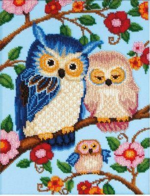 Б747 Счастливая семья чм (Чарiвна Мить, Чарiвна Мить) канва с рисунком для вышивания бисером hobby