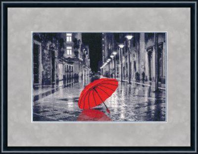 ГМ024 Красный зонтик. Городские мотивы. (Золотое Руно, Золотое Руно) цены