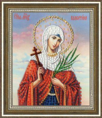 РТ140 Икона Святой Мученицы Валентины. Рисунок на ткани (Золотое Руно, Золотое Руно)