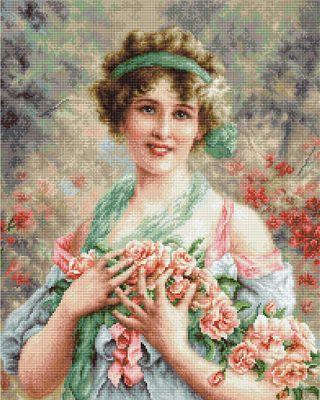 G553 Девушка с розами (LucaS) (LucaS, LucaS) b2295 шляпа к шляпе lucas lucas lucas