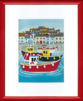 Б760 Яркая гавань чм (Чарiвна Мить, Чарiвна Мить) канва с рисунком для вышивания бисером hobby