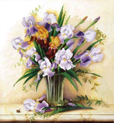 Б759 Лиловое настроение чм (Чарiвна Мить, Чарiвна Мить) канва с рисунком для вышивания орхидеи 28 х 34 см 1316