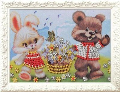 B510 Весёлые друзья (Кроше, Кроше) канва с рисунком для вышивания бисером hobby