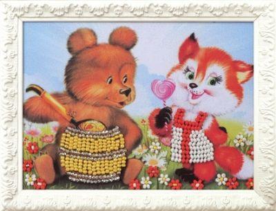 B512 Вкус мёда (Кроше, Кроше) канва с рисунком для вышивания бисером hobby