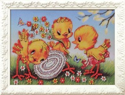 B513 Весёлая семейка (Кроше, Кроше) канва с рисунком для вышивания бисером hobby