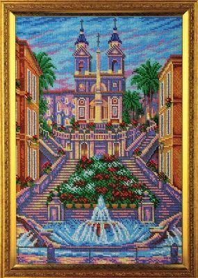 B273 Испанская лестница.Рим (Кроше, Кроше) канва с рисунком для вышивания бисером hobby