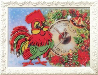 B523 Скоро Новый Год (Кроше, Кроше) канва с рисунком для вышивания бисером hobby