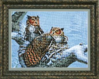 ВТ526 Теплое гнездо чм (Чарiвна Мить, Чарiвна Мить) канва с рисунком для вышивания бисером hobby