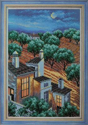 B279 Ночь. Андалусия (Кроше, Кроше) канва с рисунком для вышивания бисером hobby