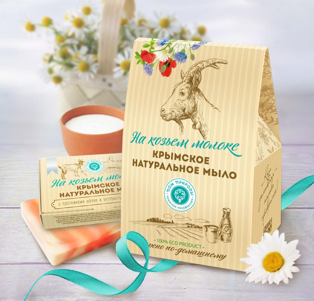 Купить Дом природы Подарочный набор натурального мыла Домик на Козьем молоке (Дом природы, Наборы), Россия